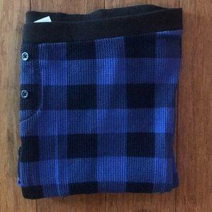 Old Navy Blue & Black Buffalo Print Lounge Pants